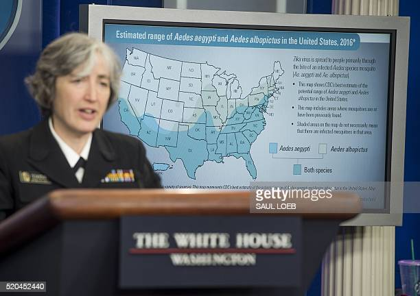 Dr Anne Schuchat Principal Deputy Director of the Centers for Disease Control and Prevention speaks about the Zika virus during a press briefing in...