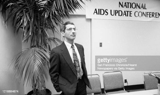 Dr. Anthony Fauci attends the National AIDS Update Conference as it meets at the San Francisco Civic Auditorium on October 12, 1989. Fauci at the...
