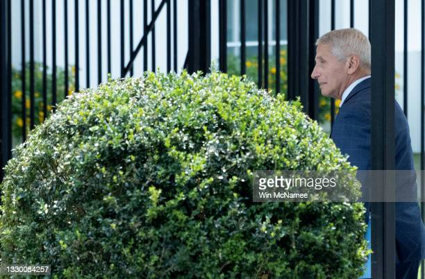 Dr. Anthony Fauci, chief medical advisor to the President, arrives at the White House on July 22, 2021 in Washington, DC. The United States continues...