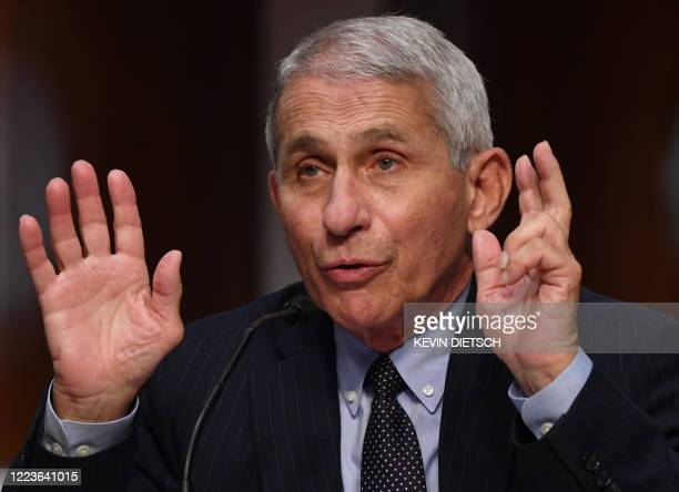 Dr. Anthony Fauci, director of the National Institute for Allergy and Infectious Diseases, testifies before the Senate Health, Education, Labor and...