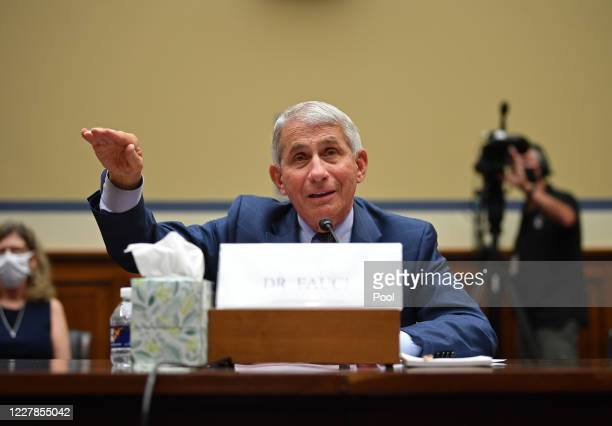 Dr. Anthony Fauci, Director of the National Institute for Allergy and Infectious Diseases testifies at a House Subcommittee on the Coronavirus Crisis...