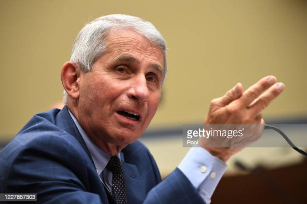 Dr. Anthony Fauci, director of the National Institute for Allergy and Infectious Diseases, testifies before a House Subcommittee on the Coronavirus...