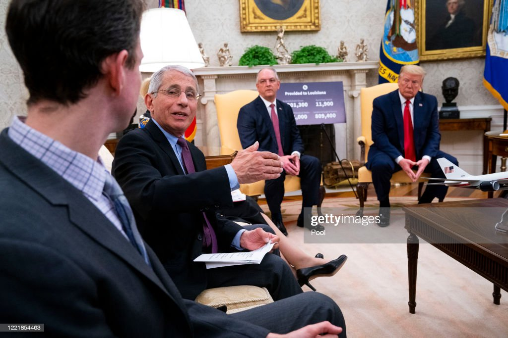 President Trump Meets With Louisiana Governor John Bel Edwards At White House : News Photo