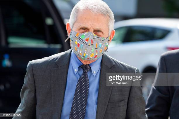 Dr. Anthony Fauci, director of the National Institute of Allergy and Infectious Diseases, arrives to testify during the House Select Subcommittee on...