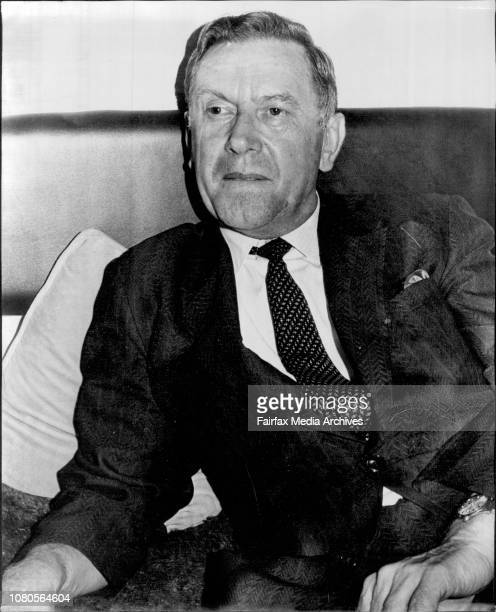 Dr Anthony Kubch Chairman of the History Dept University of Dallas Texas at Elizabeth Bay today January 2 1972