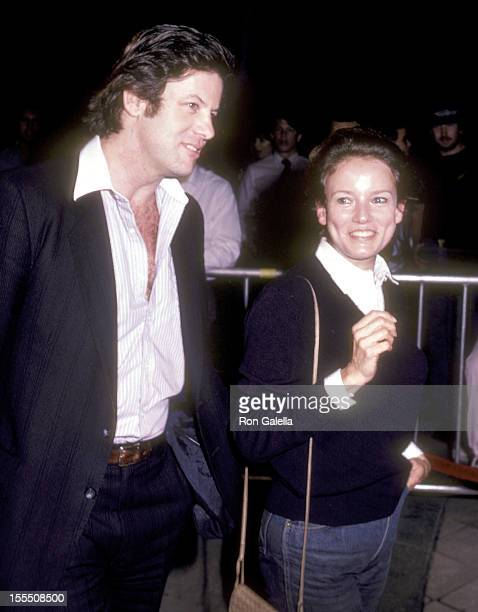 Dr Anthony Shippe and actress Trish Van Devere attend the Table for Five Westwood Premiere on February 17 1983 at the National Theatre in Westwood...