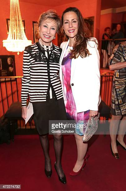 Dr AntjeKatrin Kuehnemann and her daughter Jessica Guehring during the premiere of the play 'Altweiberfruehling' at Komoedie im Bayerischen Hof on...