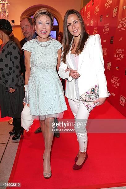 Dr AntjeKatrin Kuehnemann and her daughter Jessica Guehring during the Munich premiere of the musical 'Ich war noch niemals in New York' at Deutsches...