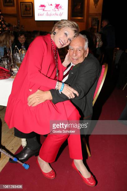 Dr AntjeKatrin Kuehnemann and her husband Dr Joerg Guehring during the Gut Aiderbichl Christmas Market opening on November 13 2018 in Henndorf am...