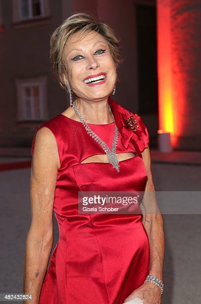 Dr AntjeKatrin Kuehnemann attends the 40 year stage anniversary of Placido Domingo during the Salzburg Festival on July 30 2015 in Salzburg Austria