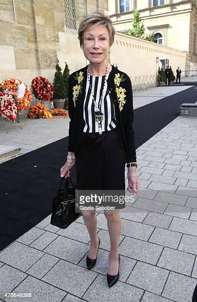 Dr AntjeKatrin Kuehnemann during the Gerd Kaefer funeral service at AllerheiligenHofkirche in Munich on June 2 2015 in Munich Germany