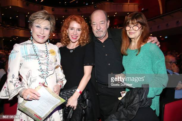 Dr Antje Katrin Kuehnemann Laura Kaefer Ralph Siegel and Katja Ebstein during the musical premiere of 'Santa Maria' at Deutsches Theater on October...