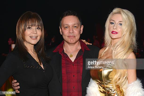 Dr Ava Cadell Doug Hutchison and Courtney Stodden attend the Muay Thai in America In Honor Of The King Celebrity VIP Event at Raleigh Studios on...