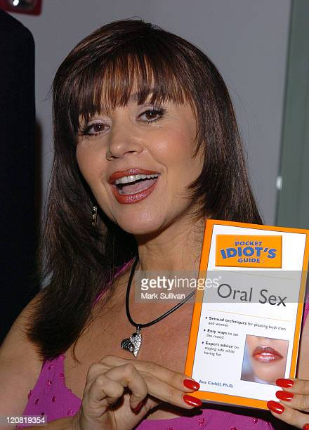 Dr Ava Cadell during The Pocket Idiot's Guide to Oral Sex Book Release Party at The Erotic Museum in Hollywood California United States