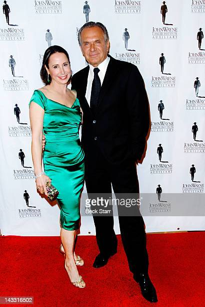 Dr Ava Shamban and Dr Andrew Ordon arrive at John Wayne Cancer Institute's 27th Annual Odyssey Ball at The Beverly Hilton Hotel on April 21 2012 in...