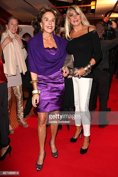 Dr Barbara Bagusat and Claudia Carpendale attend the Monti Memorial Charity Gala at Hotel Vier Jahreszeiten on October 18 2014 in Munich Germany