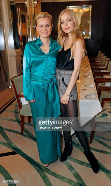 Dr Barbara Sturm and Charly Sturm attend Dr. Sturm and InParlour dinner at Claridge's Hotel hosted by Dr. Barbara Sturm and Amanda Harrington on...