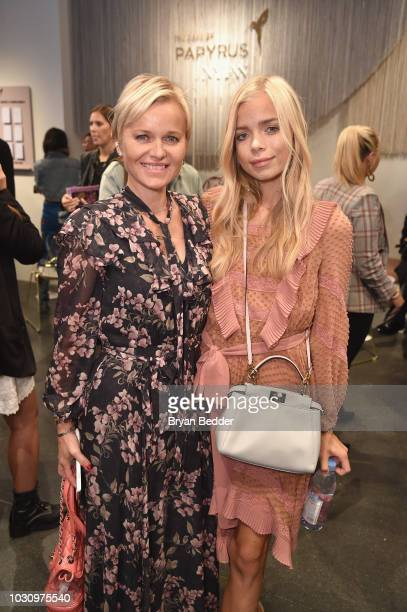 Dr Barbara Sturm and Charly Sturm pose at the Papyrus Cafe during New York Fashion Week The Shows 2018 at Spring Studios on September 10 2018 in New...