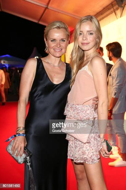 MUNICH GERMANY JUNE 26 Dr Barbara Sturm and her daughter Charly Sturm during the Movie meets Media Party during the Munich Film Festival on June 26...
