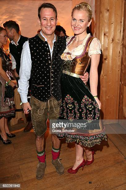 Dr. Barbara Sturm and her husband Adam Waldman during the Weisswurstparty at Hotel Stanglwirt on January 20, 2017 in Going near Kitzbuehel, Austria.