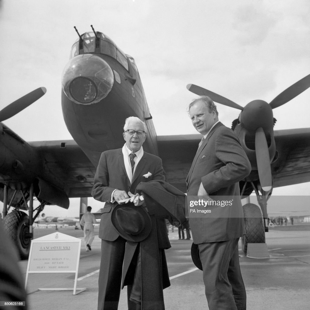 Dr Barnes Wallis, left, inventor of the bouncing bomb, and Wing... News  Photo - Getty Images