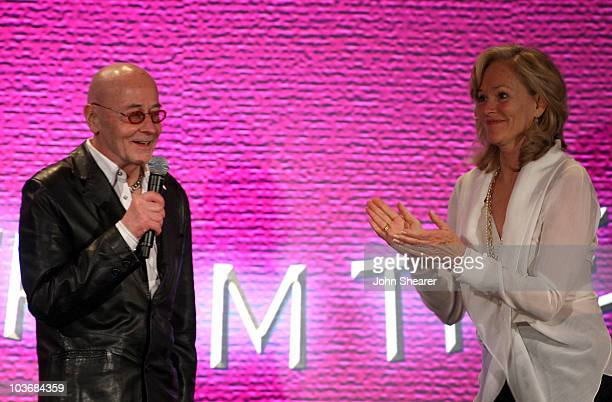 Dr. Bart Barlogie and Brenda Siemer-Scheider speak at Smiles from the Stars: A Tribute to the Life and Work of Roy Scheider at The Beverly Hills...