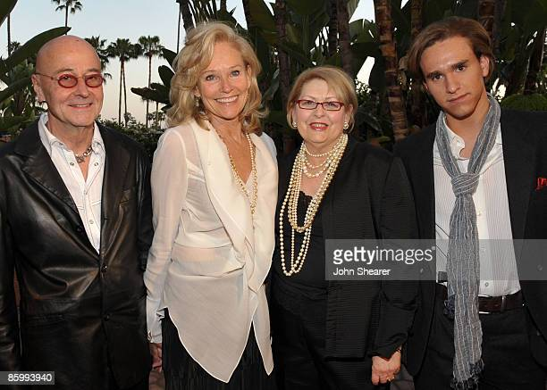 Dr. Bart Barlogie, Brenda Siemer-Scheider, guest and Christian Scheider attend Smiles from the Stars: A Tribute to the Life and Work of Roy Scheider...