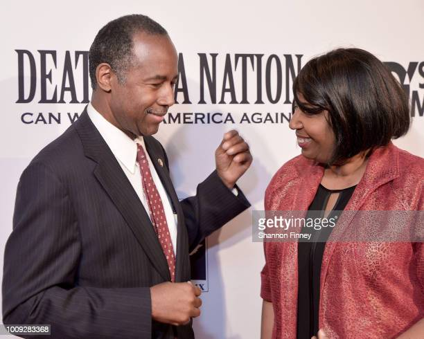 Dr Ben Carson and his wife Candy Carson attend the DC premiere of the film Death of a Nation at E Street Cinema on August 1 2018 in Washington DC