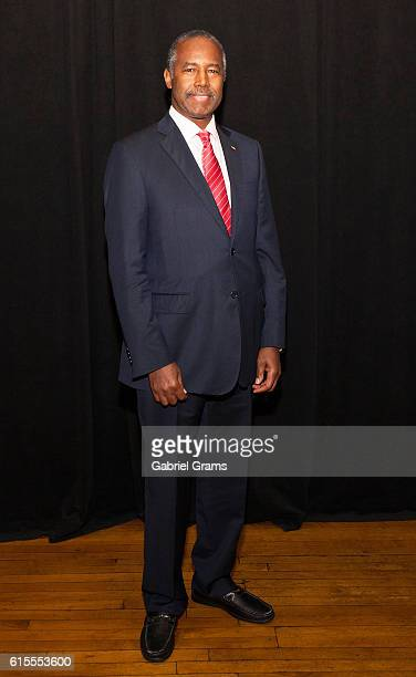 """Dr Ben Carson attends Kirk Cameron's """" Revive Us"""" event at Harvest Cathedral on October 18, 2016 in Chicago City."""