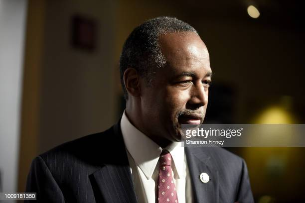 """Dr. Ben Carson attends the DC premiere of the film, """"Death of a Nation,"""" at E Street Cinema on August 1, 2018 in Washington, DC."""