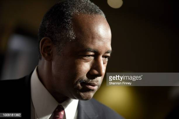 Dr Ben Carson attends the DC premiere of the film Death of a Nation at E Street Cinema on August 1 2018 in Washington DC