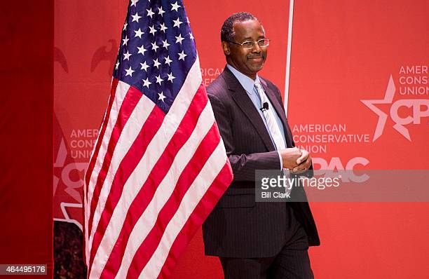 Dr. Ben Carson takes the stage to address the crowd at CPAC in National Harbor, Md., on Feb. 26, 2015.
