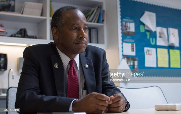 Dr Ben Carson the Secretary of Housing and Urban Development visits Baltimore on June 29 2017