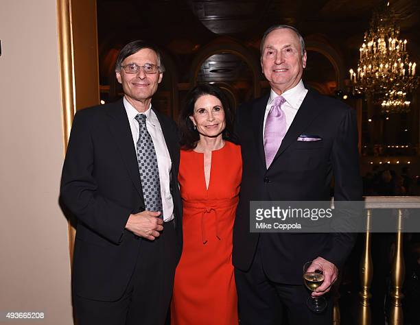Dr Ben Neel Lori Fink and Robert I Grossman attend NYU Langone Medical Center's Perlmutter Cancer Center Gala at The Plaza Hotel on October 21 2015...