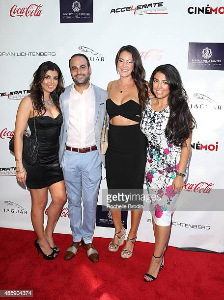 Dr Ben Talei and guests arrive at the Accelerate4Change charity event presented by Dr Ben Talei Cinemoi on August 29 2015 in Beverly Hills California