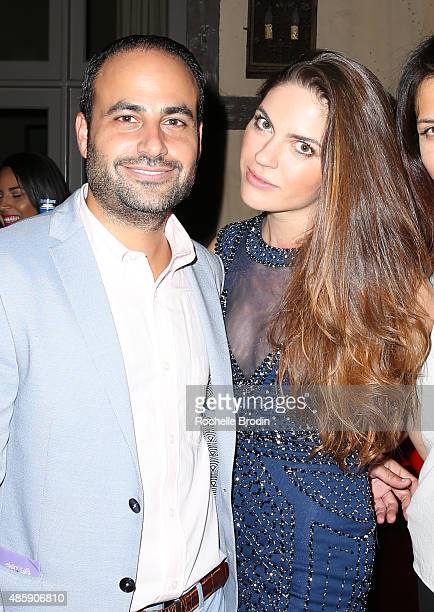 Dr Ben Talei and Margarita Bellucci attend the Accelerate4Change charity event presented by Dr Ben Talei Cinemoi on August 29 2015 in Beverly Hills...