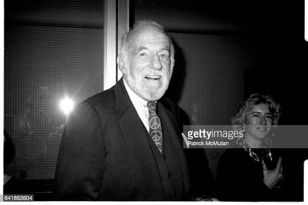 Dr Benjamin Spock at Esquire magazine's 50th anniversary party at Avery Fisher Hall November 7 1983