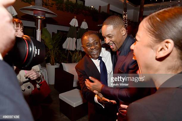Dr Bennet Omalu and actor Will Smith attend the after party for the Centerpiece Gala Premiere of Columbia Pictures' Concussion during AFI FEST 2015...