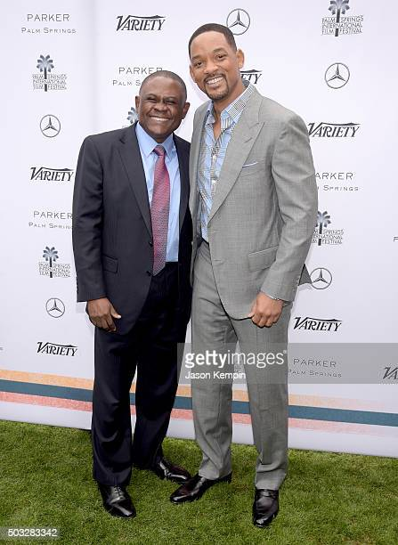 Dr Bennet Omalu and actor Will Smith attend Variety's Creative Impact Awards and 10 Directors to Watch Brunch Presented By MercedesBenz at The 27th...