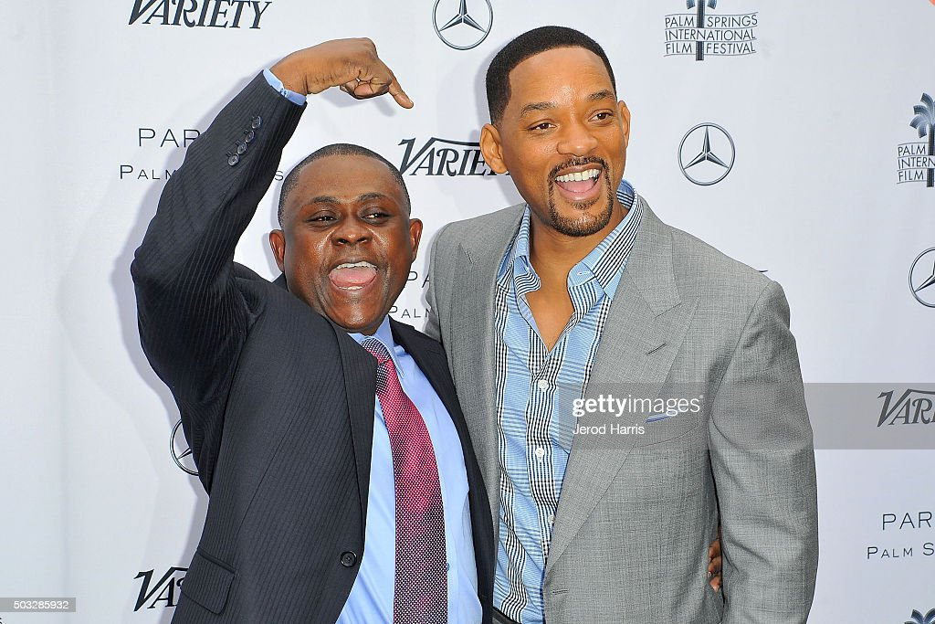 Dr. Bennet Omalu and Will Smith attend Variety's Creative Impact Awards and 10 Directors To Watch Brunch at the Parker Palm Springs on January 3, 2016 in Palm Springs, California.