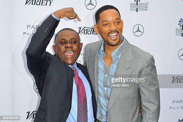 Dr Bennet Omalu and Will Smith attend Variety's Creative Impact Awards and 10 Directors To Watch Brunch at the Parker Palm Springs on January 3 2016...