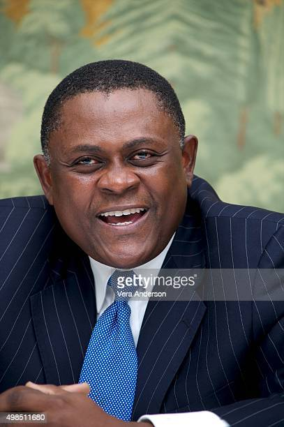 Dr Bennet Omalu at the Concussion Press Conference at The London Hotel on November 21 2015 in New York City