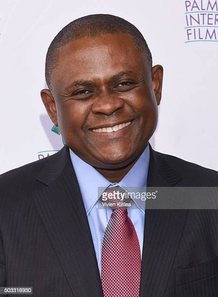 Dr Bennet Omalu attends a screening of Concussion at the 27th Annual Palm Springs International Film Festival on January 3 2016 in Palm Springs...
