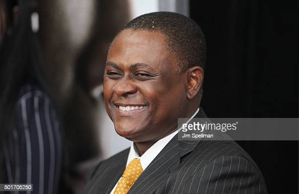 Dr Bennet Omalu attends the Concussion New York premiere at AMC Loews Lincoln Square on December 16 2015 in New York City