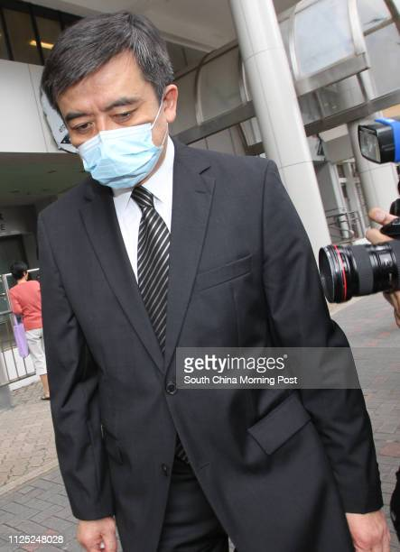 Dr Bernard Wong Karmau leaves the Coroner's Court after attending the inquest of Zoey Leung Kwan who died after being given overdose anaesthetic...