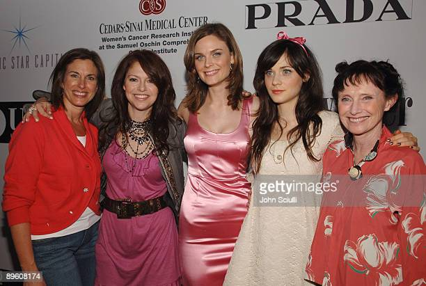 Dr Beth Karlan Elyse Walker Emily Deschanel Zooey Deschanel and Mary Jo Deschanel