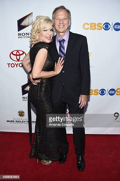 Dr Bethany Marshall and Judge Michael Linfield arrive at the Special Needs Network's An Evening Under The Stars event at Sony Studios on October 4...