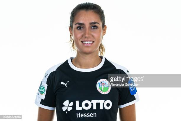 Dr Bibiane Schulze Solano poses during the 1 FFC Frankfurt Women's team presentation on September 7 2018 in Frankfurt am Main Germany i
