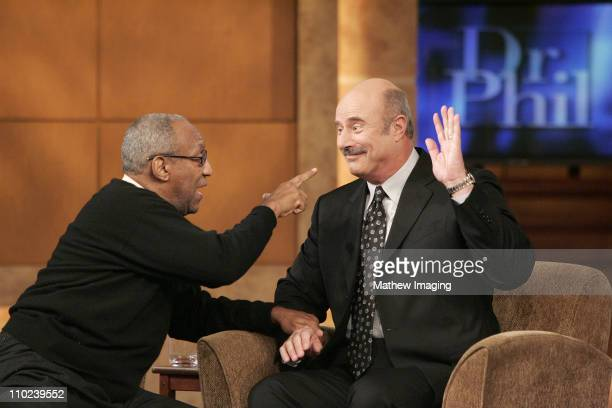 Dr Bill Cosby makes a house call to the 'Dr Phil' show in a taping on Tuesday January 18 2005 in Hollywood California The two noted doctors discussed...