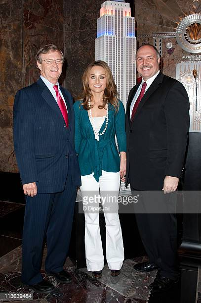 Dr Bill Magee of Operation Smile Giada De Laurentiis and Empire State Building General Manager Joseph Bellina visit The Empire State Building on May...